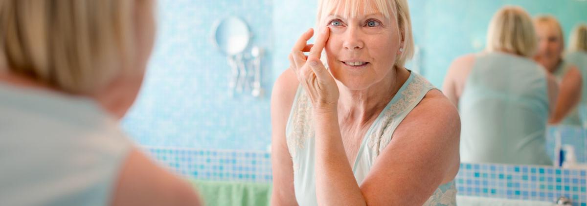 Staranje kože na obrazu